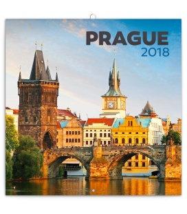 Nástěnný kalendář Praha letní 2018
