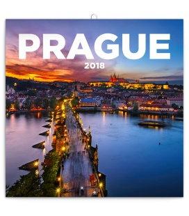 Nástěnný kalendář Praha nostalgická 2018