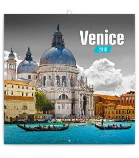 Nástěnný kalendář Benátky 2018