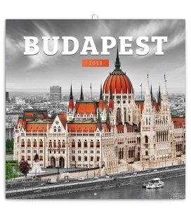 Nástěnný kalendář Budapešť 2018