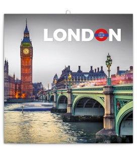 Nástěnný kalendář Londýn 2018