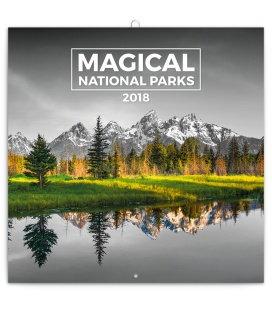 Nástěnný kalendář Magické národní parky 2018