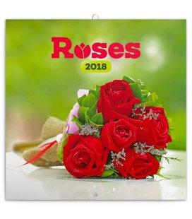 Nástěnný kalendář Růže - voňavý 2018