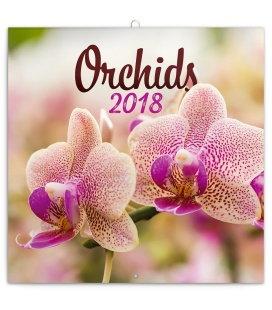 Nástěnný kalendář Orchideje 2018