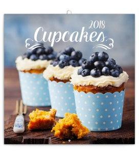 Nástěnný kalendář Cupcakes 2018