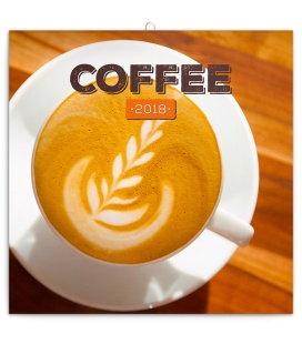 Nástěnný kalendář Káva - voňavý 2018