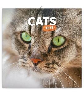 Nástěnný kalendář Kočky 2018