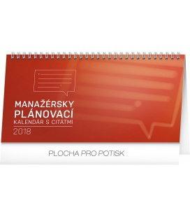 Table calendar Manažérsky s citátmi SK 2018