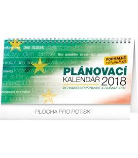 Stolní kalendář Pracovní kalendář – se světovými a mezinárodními dny 2018