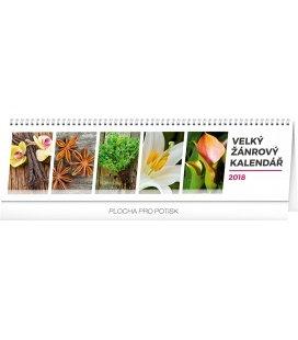 Stolní kalendář Velký žánrový kalendář 2018
