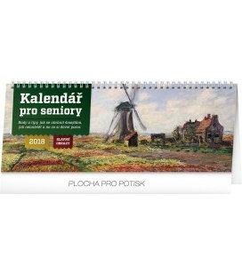 Stolní kalendář Kalendář pro seniory – Slavné obrazy 2018