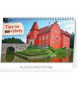 Stolní kalendář Tipy na výlety 2018