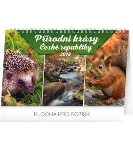Stolní kalendář Přírodní krásy České republiky 2018