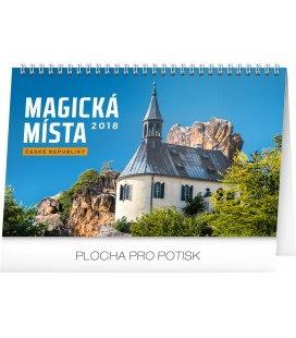 Stolní kalendář Magická místa České republiky 2018