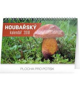 Stolní kalendář Houbařský kalendář 2018