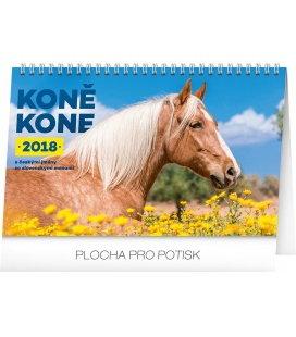Stolní kalendář Koně – Kone CZ/SK 2018