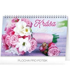 Stolní kalendář Krása květin – Krása kvetov CZ/SK 2018