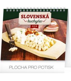 Stolní kalendář Slovenská kuchyňa SK 2018