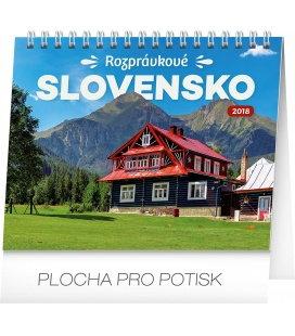 Stolní kalendář Rozprávkové Slovensko SK 2018