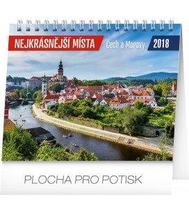 Stolní kalendář Nejkrásnější místa Čech a Moravy 2018