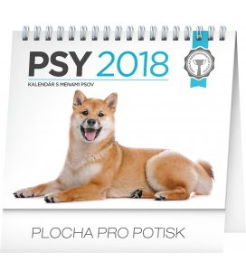 Stolní kalendář Psy – s menami psov SK 2018