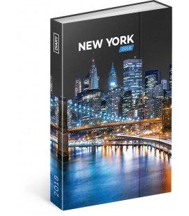 Diář týdenní magnetický New York 2018