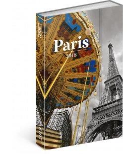 Diář týdenní magnetický Paříž 2018