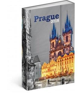 Diář týdenní magnetický Praha 2018