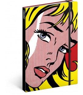 Notebook Roy Lichtenstein – Girl, unlined 2018