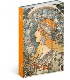 Notizbuch Alphonse Mucha – Zodiac, liniert 2018