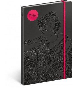 Notebook Alphonse Mucha – Ruby, lined 2018