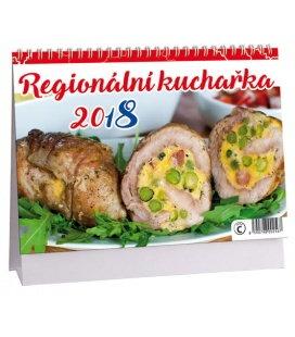 Stolní kalendář Regionální kuchařka 2018