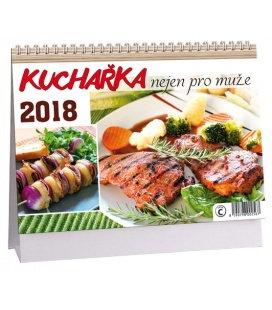 Stolní kalendář Kuchařka nejen pro muže 2018