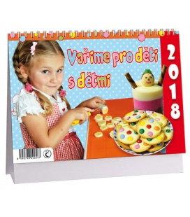 Stolní kalendář Vaříme pro děti s dětmi 2018