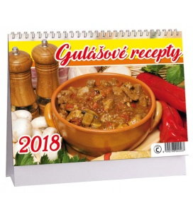 Stolní kalendář Gulášové recepty 2018
