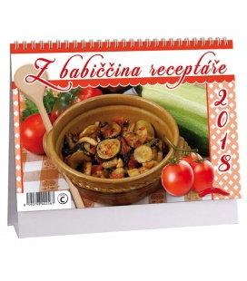Stolní kalendář Z babiččina receptáře 2018
