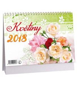 Stolní kalendář Květiny + znamení zvěrokruhu 2018