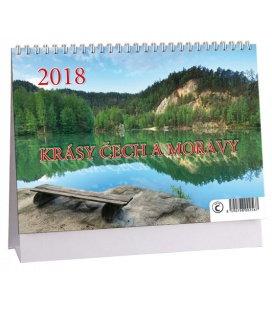 Tischkalender Krásy Čech a Moravy + znamení zvěrokruhu 2018