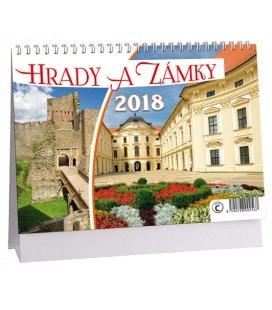 Stolní kalendář Hrady a zámky 2018