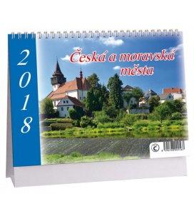 Stolní kalendář Česká a moravská města 2018