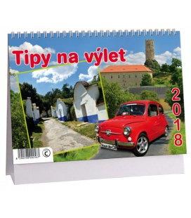 Stolní kalendář Tipy na výlet 2018
