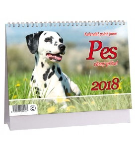 Stolní kalendář Pes - věrný přítel + psí jména 2018