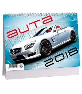 Stolní kalendář Auta 2018