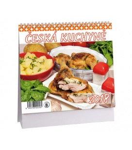 Stolní kalendář Česká kuchyně MINI 2018