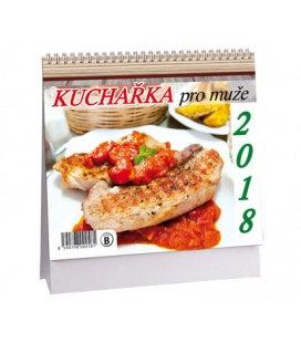 Stolní kalendář Kuchařka pro muže MINI 2018