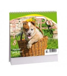 Stolní kalendář Pes - věrný přítel MINI + psí jména 2018