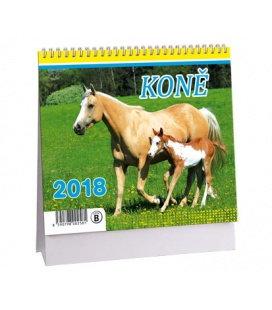 Stolní kalendář Koně MINI 2018