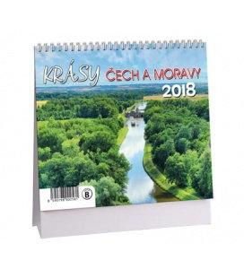 Stolní kalendář Krásy Čech a Moravy MINI 2018