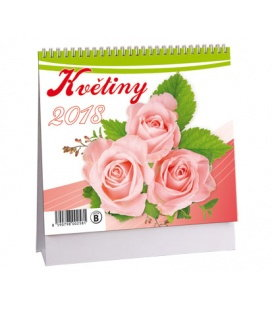 Stolní kalendář Květiny MINI 2018
