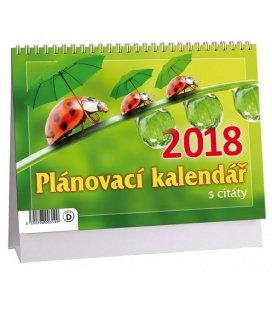 Stolní kalendář Plánovací MIDI s citáty (Berušky) 2018
